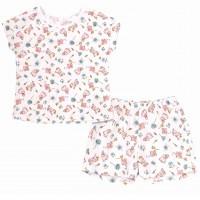 Pižama mergaitei trumpomis rankovėmis