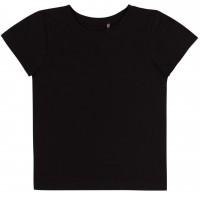 Vienspalviai marškinėliai trumpomis rankovėmis (juodos spl.)