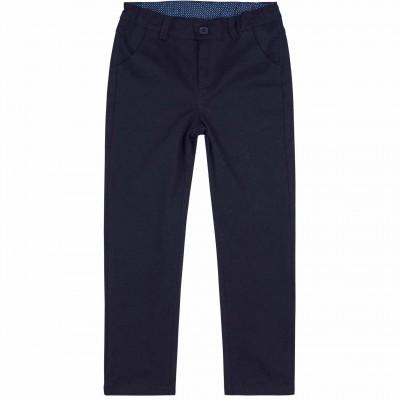 Tamsiai mėlynos medvilninės kelnės