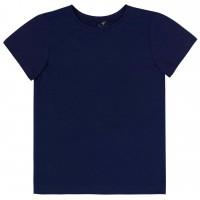 Vienspalviai marškinėliai trumpomis rankovėmis (tamsiai mėlynos spl.)