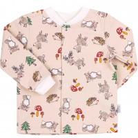 Šilti marškinėliai (su pūkeliu) Miško draugai (rusvos spalvos)
