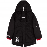 Šilta demisezoninė striukė berniukui Black car (juodos spalvos)
