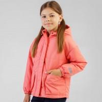 Demisezoninė striukė mergaitei Abstract (salmon spalvos)