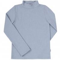 Šiltas džemperis-golfas su viskozė (melsvos spl.)