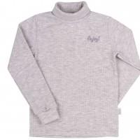 Šiltas džemperis-golfas su viskozė Enjoy (pilkos spl.)