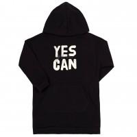 Prailgintas džemperis Yes you can (juodas)