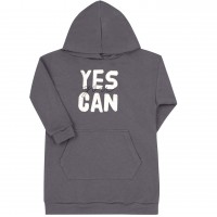 Prailgintas džemperis Yes you can (pilkas)