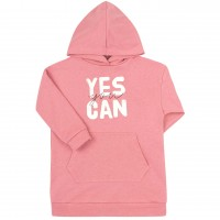 Prailgintas džemperis Yes you can (rausvas)