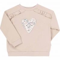 Džemperis mergaitei Širdelė (biežinės spalvos)