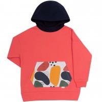 Salmon spalvos džemperis mergaitei Abstract