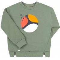 Šiltas džemperis mergaitei Abstract (chaki spalvos)