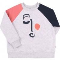 Pilkas džemperis mergaitei Abstract