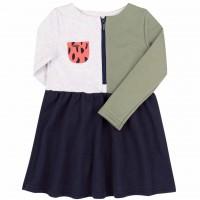 Kilpinio trikotažo suknelė mergaitei Abstract