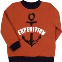 Šiltas džemperis (su pūkeliu) Expedition (plytų spl.)