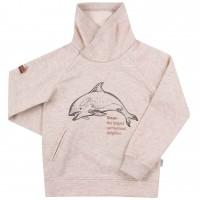 Šiltas aukštu kaklu džemperis (su pūkeliu) Dolphins
