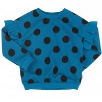 Šiltas džemperis mergaitei Burbulai (turkio/juodos spalvos)