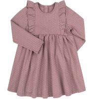 Trikotažinė suknelė Taškiukai (pelenų rožės spalvos)