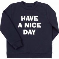 Šiltas džemperis (su pūkeliu) Have a nice day (tamsiai mėlynas)