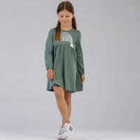 Suknelė mergaitei Abstract (žalsva)