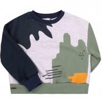 Stilingas trumpas džemperis Abstract