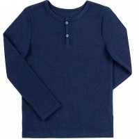 Vienspalviai marškinėliai ilgomis rankovėmis (tamsiai mėlynos splv.)