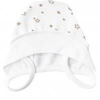 Šilta (su pūkeliu) kepurė kūdikiui Žvaigždės