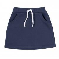 Kilpinio trikotažo sijonas (mėlynas)