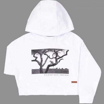 Baltas džemperis Safari