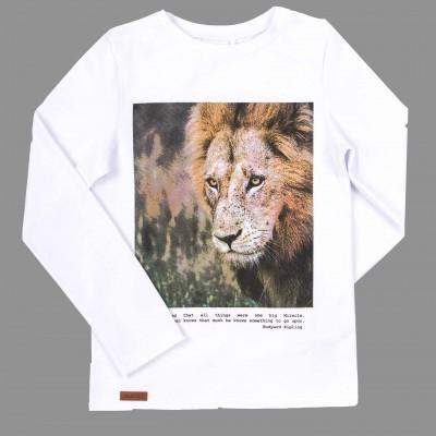 Balti marškinėliai Safari