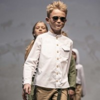 Lininiai marškiniai berniukui Safari