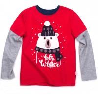 Kalėdiniai marškinėliai berniukui Hello winter r.