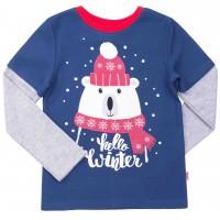 Kalėdiniai marškinėliai berniukui Hello winter m.