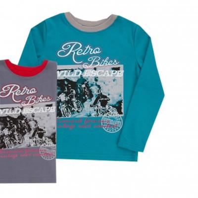 """Marškinėliai berniukui """"Retro"""" Žalsvi"""