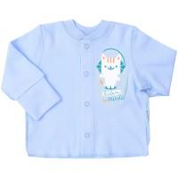 Marškinėliai kūdikiui (su pūkeliu ir pirštinėmis) melsv.