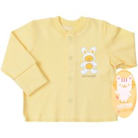 Marškinėliai kūdikiui (su pūkeliu ir pirštinėmis) gelsv.