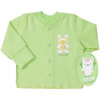 Marškinėliai kūdikiui (su pūkeliu ir pirštinėmis) žalsv.