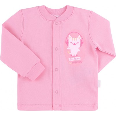 Marškinėliai kūdikiui (su pūkeliu ir pirštinėmis) rausv.