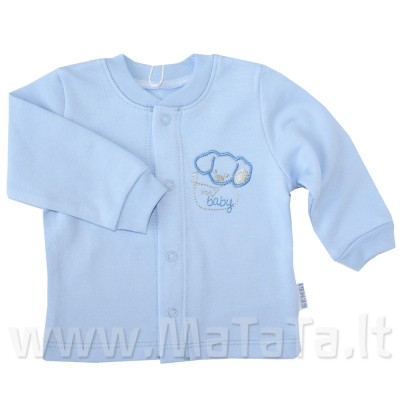 Šilti marškinėliai (su pūkeliu) melsvi
