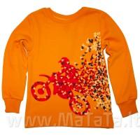 Marškinėliai berniukui RIDERS oranžiniai