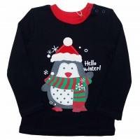 Kalėdiniai marškinėliai berniukui Hello winter