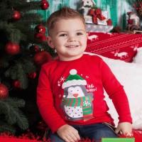 Kalėdiniai marškinėliai berniukui Hello winter(raudonos spl.)