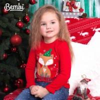 Kalėdinė palaidinė mergaitei (raudona)