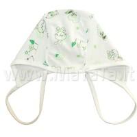 Kepurė kūdikiui (žalsvi zuikiai)