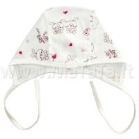 Kepurė kūdikiui (rausvi zuikiai)