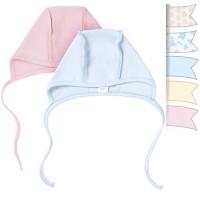 Šilta (su pūkeliu) kepurė kūdikiui (įvairių spalvų)