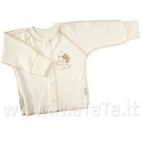 Marškinėliai kūdikiui išvirkščiom siūlėm su pirštinėmis