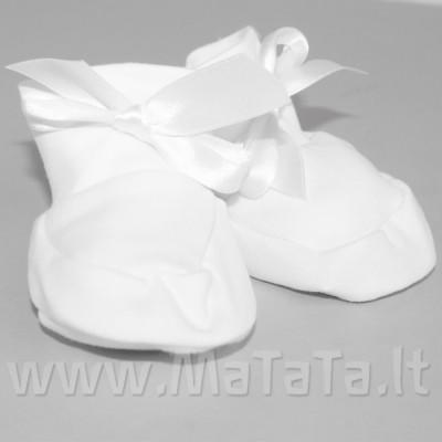 Veliūriniai batukai kūdikiui (baltos sp.)