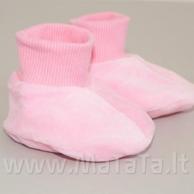 Veliūriniai batukai kūdikiui (rausvos sp.)