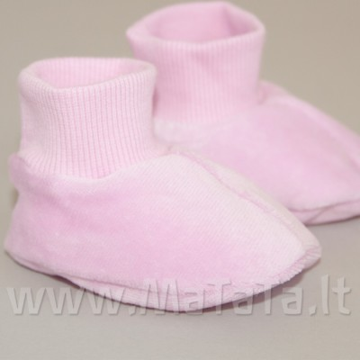 Veliūriniai batukai kūdikiui (violetinės sp.)