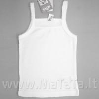 Balti apatiniai marškinėliai be rankovių